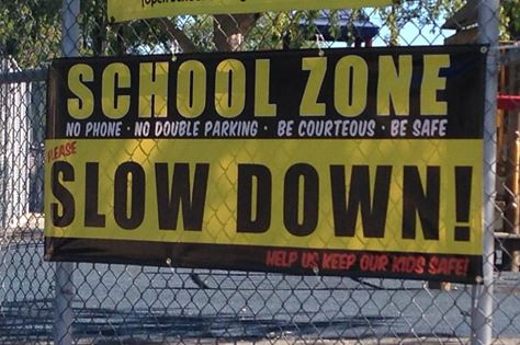 Slow Down School Zone - Clingdom