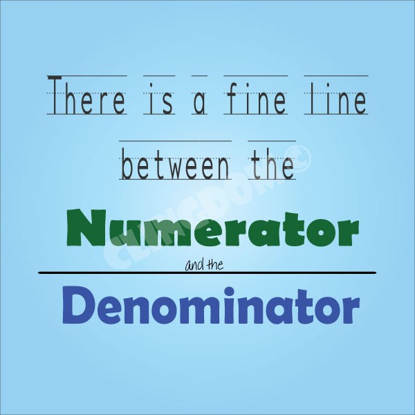 what is the relationship between a numerator and denominator