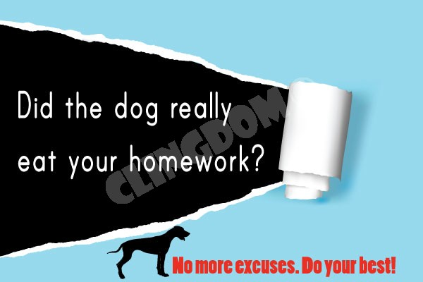 Do dogs really eat homework