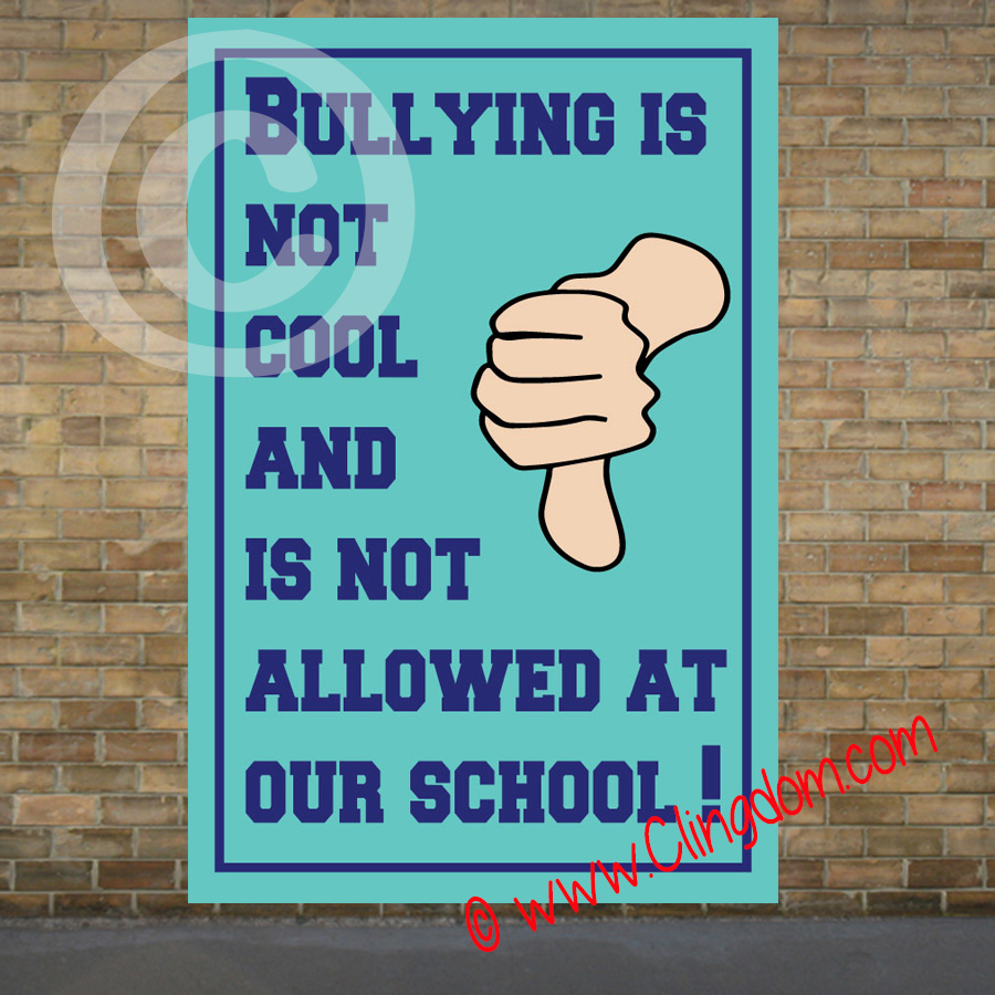 Bullying is NOT cool and NOT allowed at our school – Clingdom